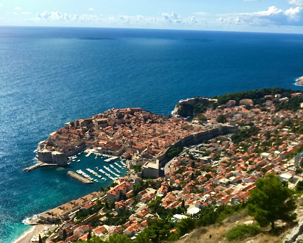 Mount Srdj above Dubrovnik